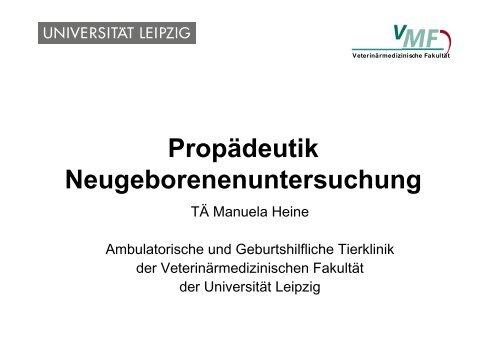 Propädeutik-V Neonaten-U - Veterinärmedizinische Fakultät ...