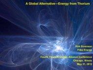 A Global Alternative—Energy from Thorium - Thorium Energy Alliance
