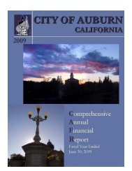 2009 Comprehensive Annual Financial Report - City of Auburn ...