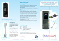 SalivaScreen Handheld Reader Touch Flyer ... - ulti med Products