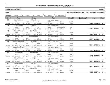 Grand Prix - Palm Beach Dressage Derby Series
