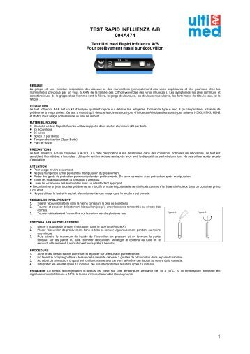TEST RAPID INFLUENZA A/B 004A474 - ulti med Products