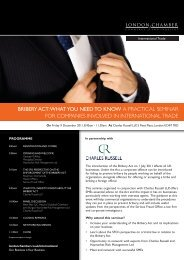 bribery act - London Chamber of Commerce and Industry