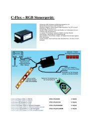 C-Flex – RGB Steuergerät: - Deco
