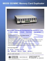 M6550 SD/MMC Memory Card Duplicator - Trace Digital