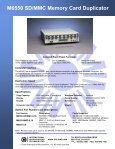M6550 SD/MMC Memory Card Duplicator - Trace Digital - Page 2