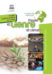 Forum Genre et climat - Gender Climate
