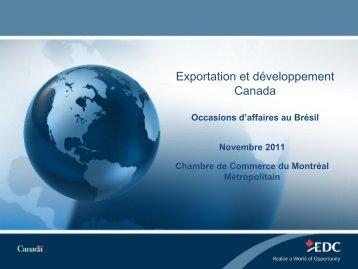 Brésil - Chambre de commerce du Montréal métropolitain