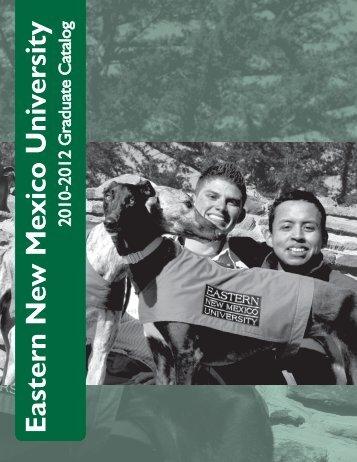 Graduate Catalog - Eastern New Mexico University