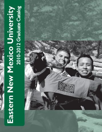 Graduate Catalog - Eastern New Mexico University
