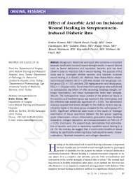Effect of Ascorbic Acid on Incisional Wound Healing in ... - Wounds