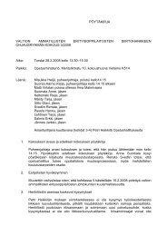 Ohjausryhmän pöytäkirja 28.2.2008 - Opetusministeriö
