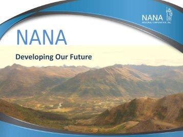 NANA Presentation (pdf) - Resource Development Council