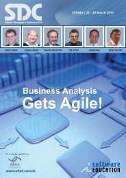 Business Analysis - Software Education