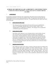 Bus Driver Salary Agreement Forms and Instructions