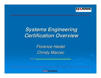 Systems Engineering Certification Overview