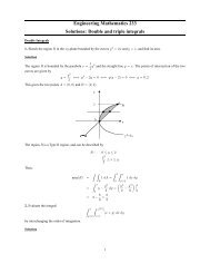 Engineering Mathematics 233 Solutions: Double and triple integrals