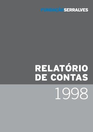 Relatório e Contas 1998 - Fundação de Serralves