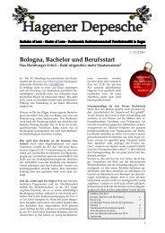 Hagener Depesche Nr. 3 - FernUniversität in Hagen