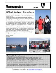 Værøyposten juli 2008 - Værøy Kommune