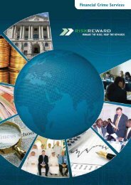 Financial Crime Services - Risk Reward Limited