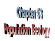 53 - Population Ecology - Grayslake North High School
