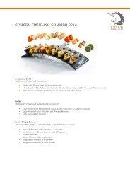 SPEISEN FRÜHLING-SOMMER 2013 - Unikorn Catering