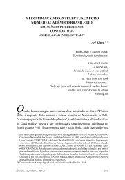 A legitimação do intelectual negro no meio acadêmico brasileiro