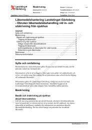 Obruten läkemedelsbehandling vid in- och utskrivning från sjukhus