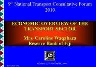 9 National Transport Consultative Forum 2010 ECONOMIC ...