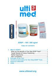 1. What Is EDDP? - ulti med Products (Belgium) BVBA