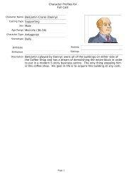 Character Profiles for Full Cast Benjamin Crank (Danny ... - Reelfilms