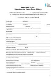 Bewerbungsbogen Studienförderung - WiWi-Online