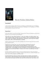 Meet the Translator: Andreas Decker Steckbrief ... - Piper-Fantasy.de