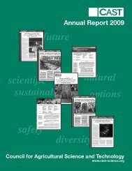 2009 Annual Report - Council for Agricultural Science and Technology
