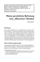 """Meine persönliche Befreiung vom """"Mammon""""-Denken - GBFE"""