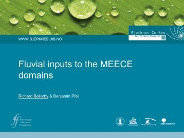 Fluvial inputs to the MEECE domains