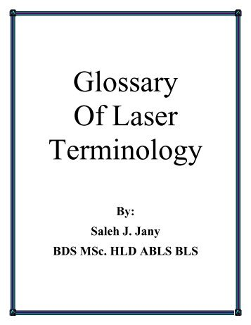 Get the Glossary - The American Board of Laser Surgery
