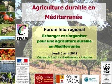 Une ou des agricultures durables - Les agricultures alternatives