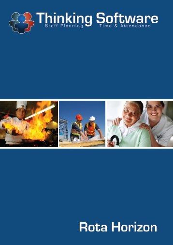Rota Horizon Brochure - Thinking Software