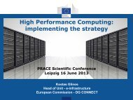 High Performance Computing: implementing the strategy - prace