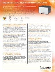 Imprimantes laser couleur Lexmark CS410 Series