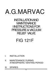 Marvac Fig. 121F (PV Valve) - Safety Systems UK Ltd
