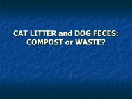 CAT LITTER and DOG FECES: COMPOST or WASTE?