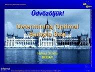 Determining Optimal Sample Size - BEBAC • Consultancy Services ...