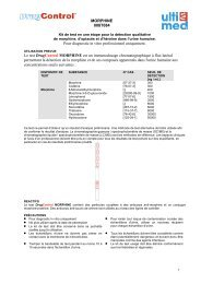 MORPHINE 008T084 Pour diagnostic in vitro ... - ulti med Products