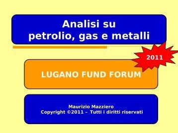 Petrolio WTI - Lugano Fund Forum