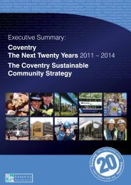 Sustainable Community Strategy 2011 - 2014. - Coventry Partnership