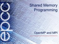 OpenMP and MPI - EPCC