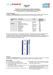 MORPHINE 008Z113 Pour diagnostic in vitro ... - ulti med Products